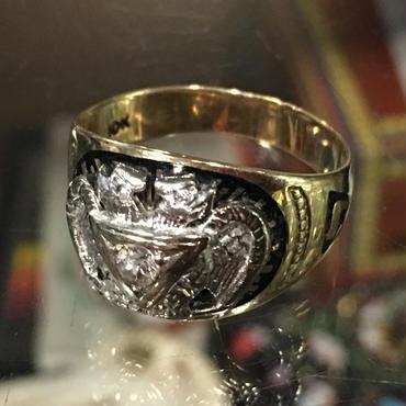 Vintage 10K Gold Masonic Scottish rite 32 Degrees Ring フリーメイソン スコティッシュライト リング  22号