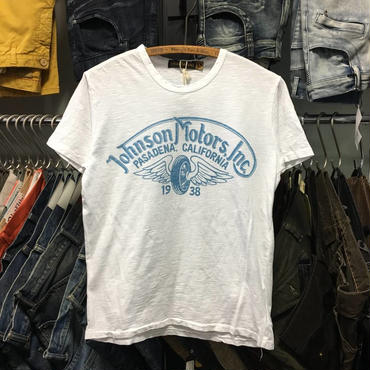 (ジョンソンモータース) Johnson Motors WINGED WHEEL 半袖Tシャツ (MMTSWHB00608)