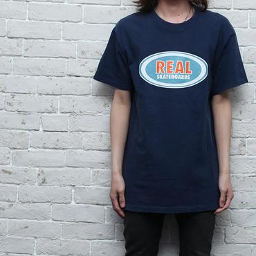 リアルスケートボード Tシャツ オーバル柄 Real Skateboards T-Shirt