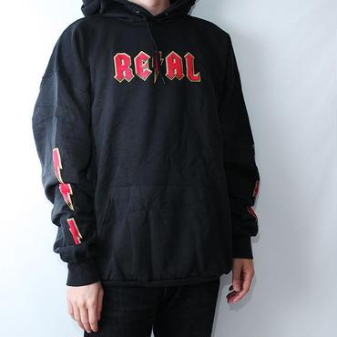 リアルスケートボード ビンテージパーカー 袖プリント デッドストック Real Skatebords Hoodie