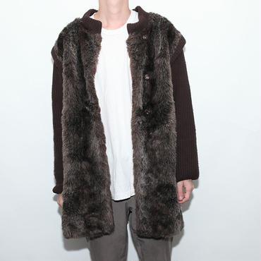 Fake Fur × Knit Coat