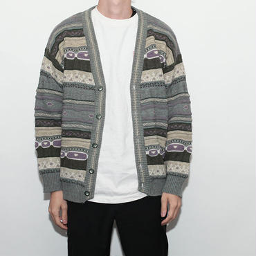 Border Wool Cardigan