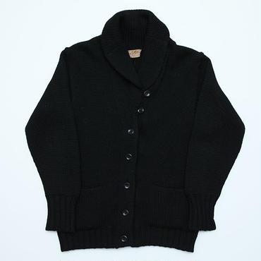 ヴィンテージ ショールカラーカーディガン ブラック Vintage