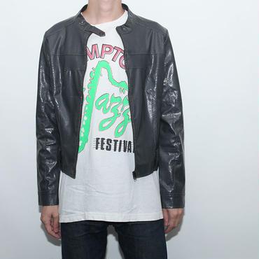 Fake Leather Jacket Python Type