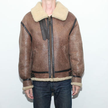 Vintage B-3 Mouton Leather Jacket AVIREX