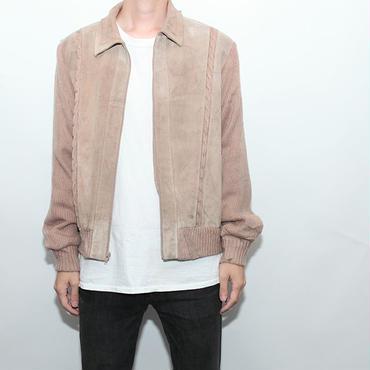 Vintage Leather×Knit Jacket