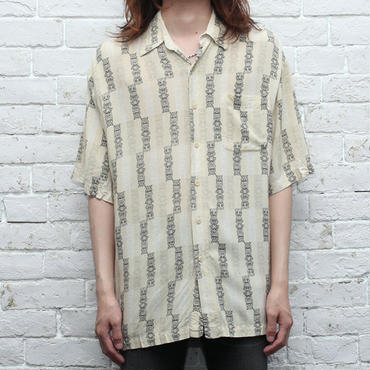 レーヨン 総柄シャツ Rayon S/S Shirt