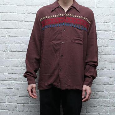 レーヨンシャツ Native Pattern Rayon Shirt