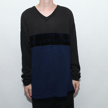 Cotton×Velvet  Knit Sweater