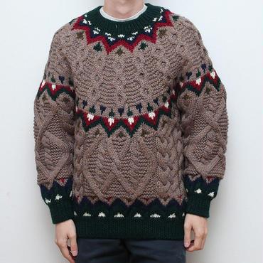 ヴィンテージ ノルディック柄ケーブルニット Vintage Nordic Sweater