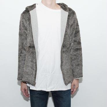 Fake Fur Reversible Hoodie