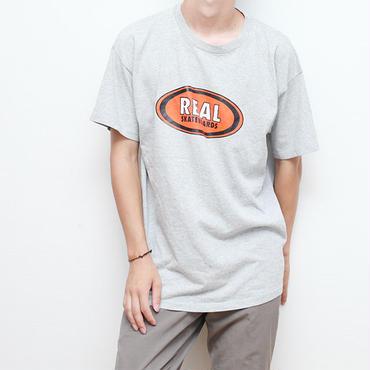 90s リアルスケートボードTシャツ オーバル柄 Real Skateboards