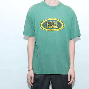 90s リアルスケートボード オーバル柄Tシャツ Real Skateboards T-Shirt