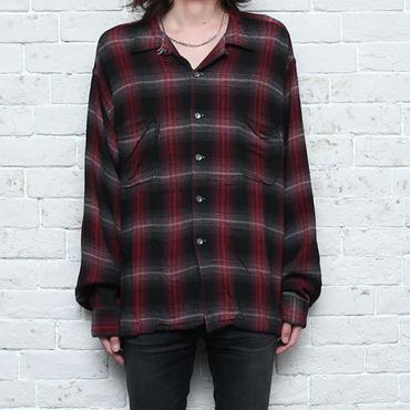 ヴィンテージ レーヨンシャツ オンブレチェック Vintage Rayon Shirt