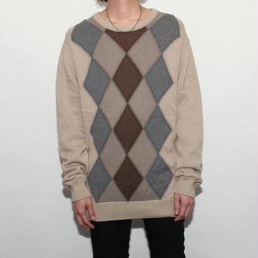 Argyle Cotton Sweater