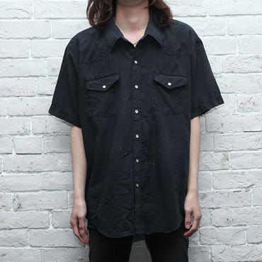 Black S/S Western Shirt