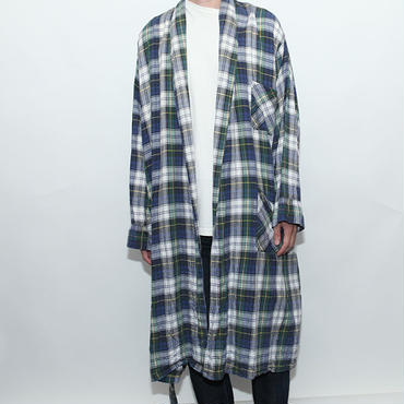 L L Bean Cotton Check Gown チェックガウン
