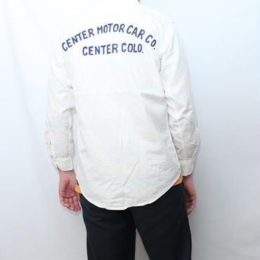 刺繍入り ワークシャツ Vintage Motor Car Stitch Work Shirt