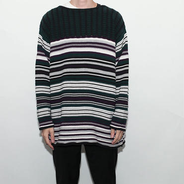 Loose Fit Border Sweater