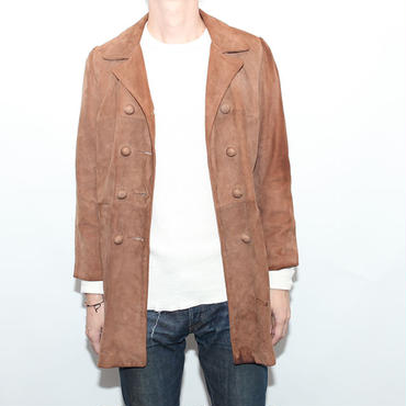 Nuback Leather Half Coat