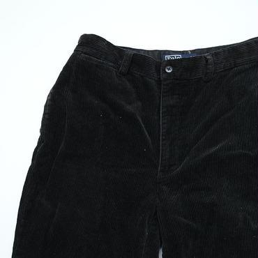 ラルフローレン ファットコーデュロイ パンツ ブラック Ralph Lauren