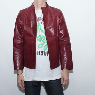 Crimson Leather Jacket