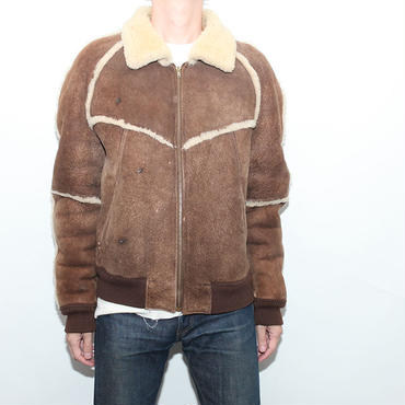 Vintage Mouton Leather Jacket