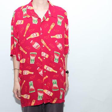 レーヨン ハワイアンシャツ スパイス柄 Rayon S/S Shirt