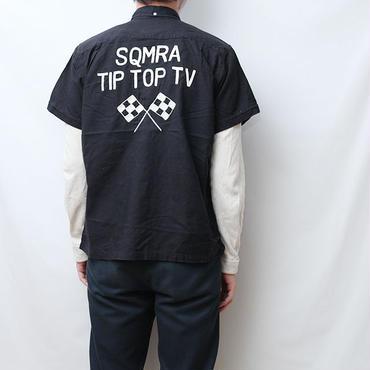 ビンテージ チェッカーフラッグ刺繍 シャツ Vintage S/S Shirt