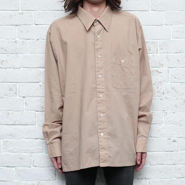 80s クリスチャンディオール ドレスシャツ ドット柄 Christian Dior L/S Shirt