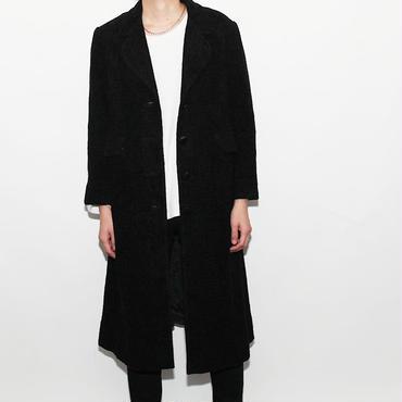 Pile Black Long Coat