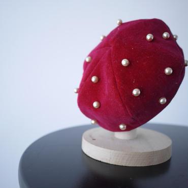 ベレー帽(赤)