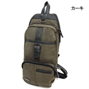 GAZELLE キャンバス タテ型 ベルト付き ボディーバッグ 7681-673-36