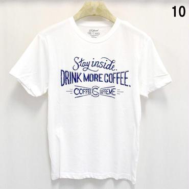 OILCAKE 天竺 ケミカル加工 プリント 半袖Tシャツ(6703-720,10,ホワイト)