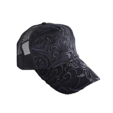 GAZELLE 和柄刺繍 トライバル メッシュキャップ 8683936-01A
