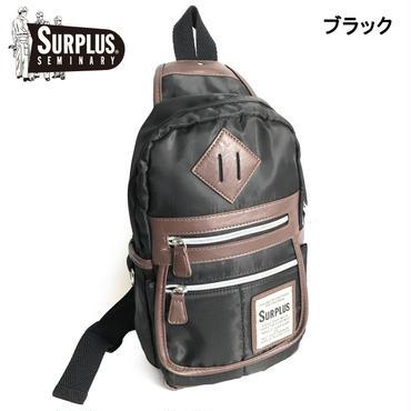 SURPLUS ポリエステル PU切替 ボディーバッグ 7652-704-41