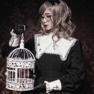 新作人気  ワンピース アリス ロリィタ ゴスロリ 刺繍 メイド ワンピ
