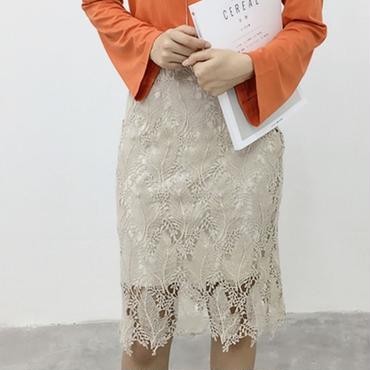 新作 人気 花柄 スカート ミディアム タイトスカート ボトムズ 春 夏 グレージュ 刺繍 プチプラ 送料無料 sale セール