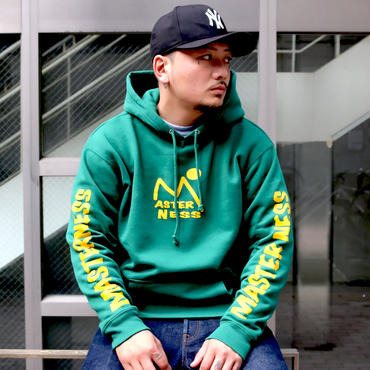 MASTER NESS (mountens) 10oz PULLOVER (green)