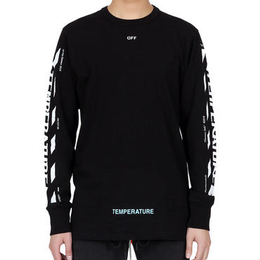 OFF WHITE DIAG TEMPERATURE T-SHIRT