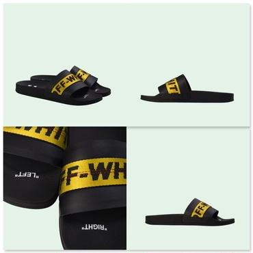OFF-WHITE サンダル INDUSTRIAL SLIDERS **ロゴ** FW19