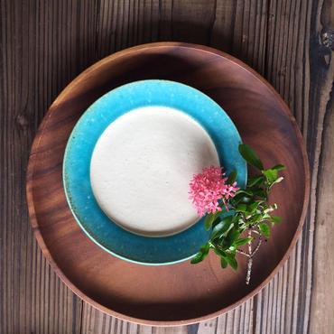 やちむん ペルシャ釉リム皿(6寸)/宮城正幸