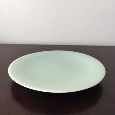 八重山陶磁 青磁7寸皿(磁器)/宮良断(アンパル陶房)