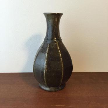 八重山陶磁 面取り花瓶/宮良断(アンパル陶房)