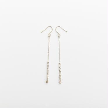 square beads pierce 07P55-5 / silver