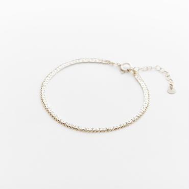 snake chain double strand bracelet 13B102 / silver