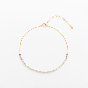 square beads anklet 08A101  / gold