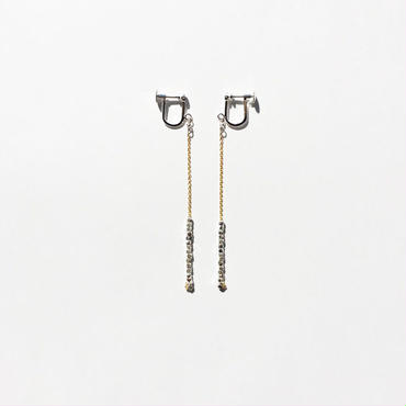 square beads earring  07E55-5 / gold