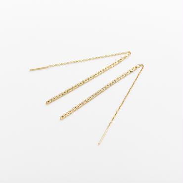 snake chain pierce 13P102 / gold