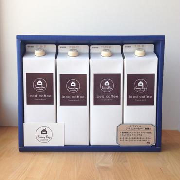 夏ギフト オリジナルアイスコーヒー(無糖)1L   4本入